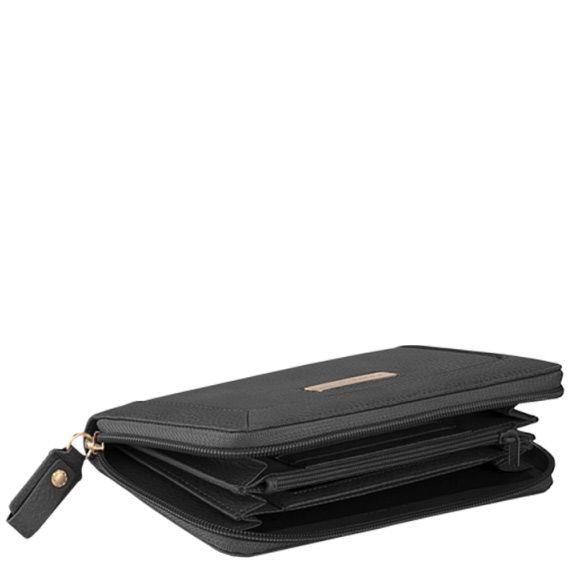Крупное портмоне на молнии Piquadro Shimmer черное