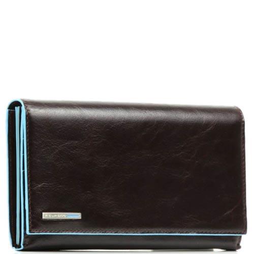 Горизонтальное портмоне Piquadro Blue Square из кожи