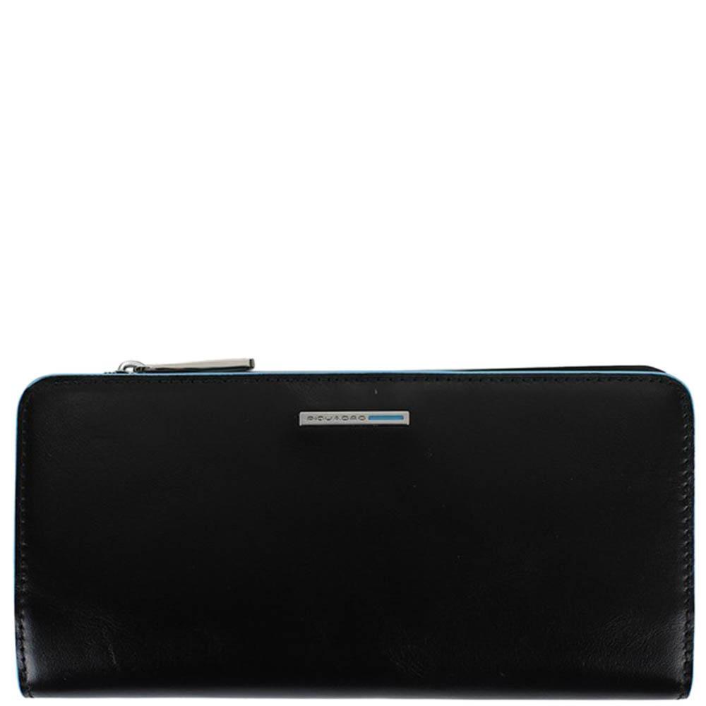 Женское портмоне Piquadro BL Square черного цвета