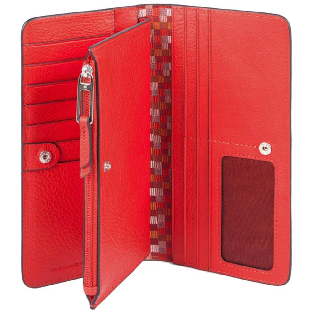 Красное портмоне Piquadro Muse