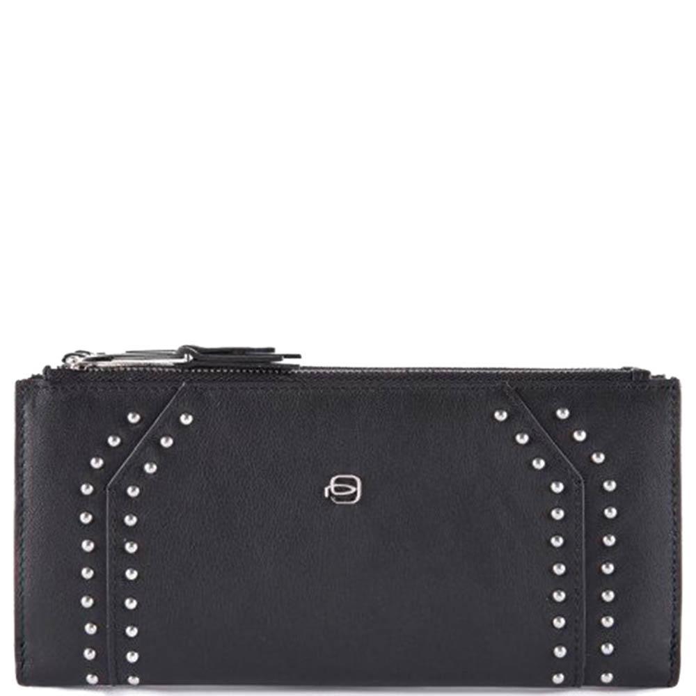 Женское портмоне Piquadro Muse черного цвета