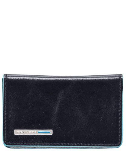 Визитница Piquadro Blue square для своих визиток тёмно-синяя