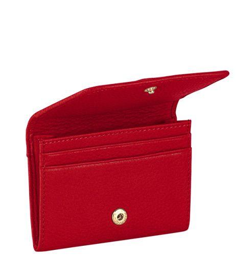Визитница Piquadro с отделением для кредиток Shimmer красная
