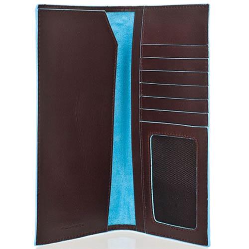 Коричневый тревеллер Piquadro Blue Square из кожи