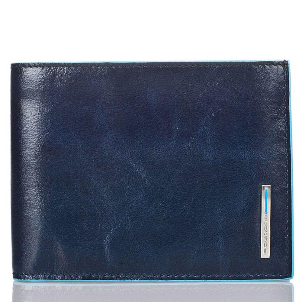 Классическое портмоне Piquadro для 12 кредитных карт Blue square