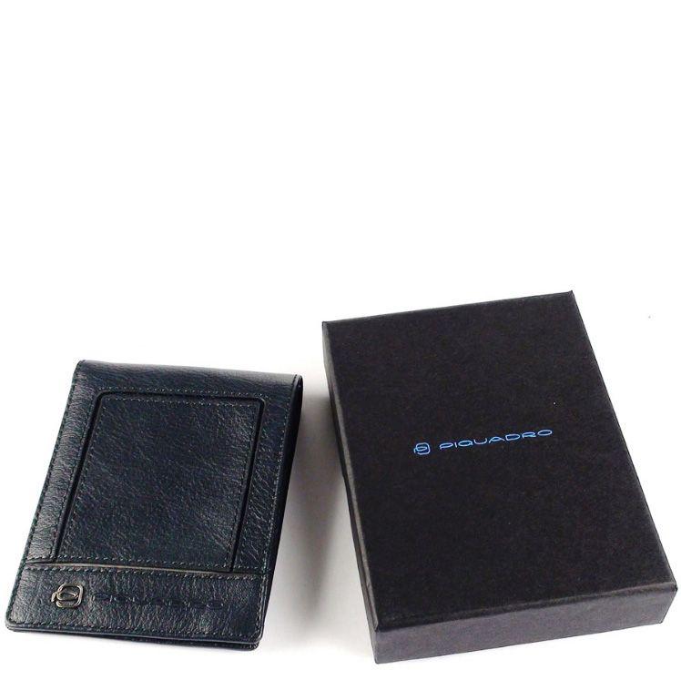 Портмоне Piquadro Vibe из темно-синей и серой кожи с 13 слотами для карт