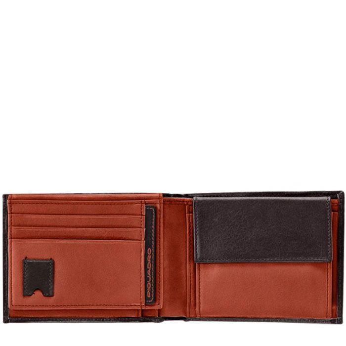 Портмоне Piquadro Freeway оранжево-коричневое с карманом для документов