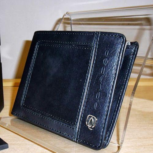 Портмоне Piquadro Vibe серо-синее с отделением для документов