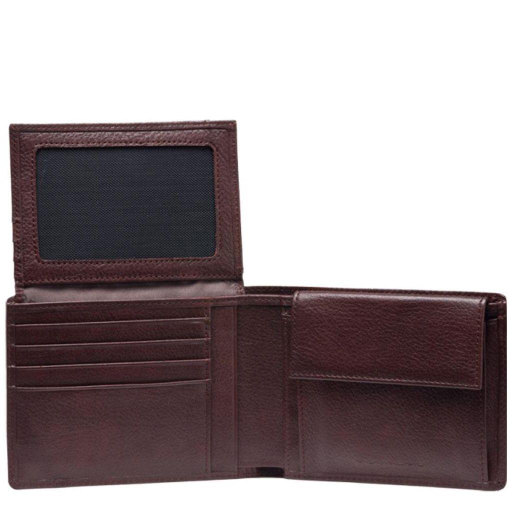 Портмоне Piquadro Vibe коричневое с отделением для документов