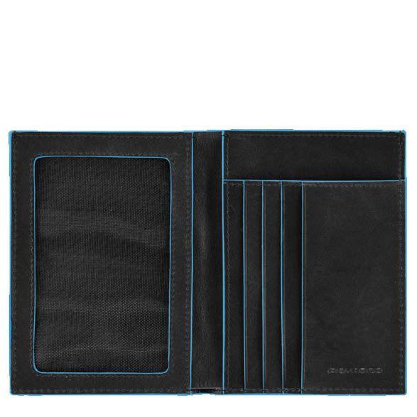 Портмоне Piquadro с отделением для документов Blue square черное