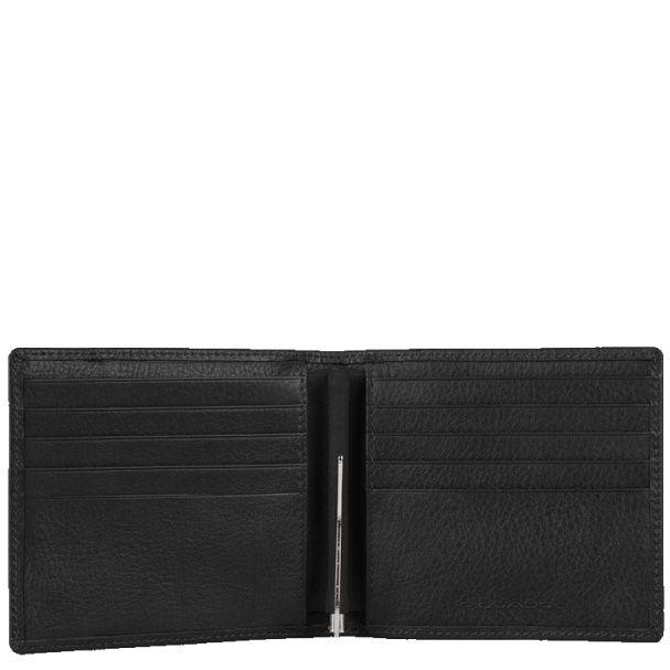 Портмоне Piquadro Vibe черное с зажимом для банкнот