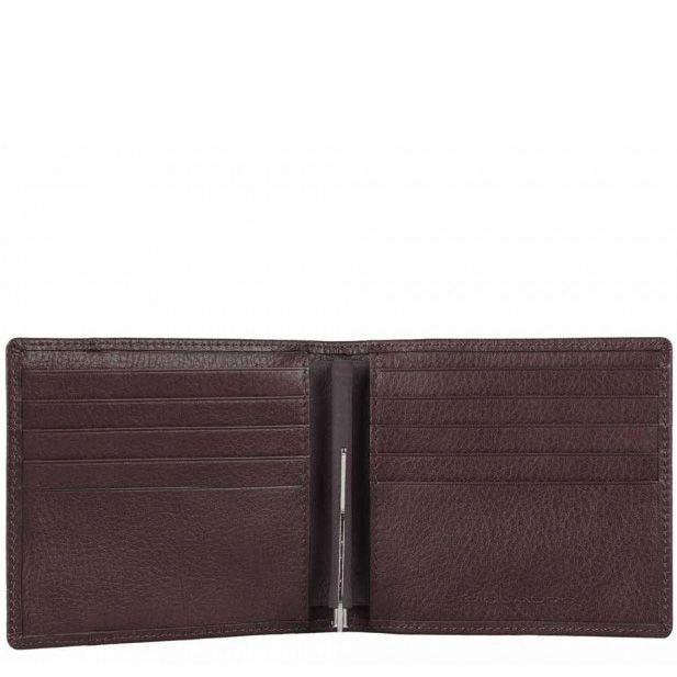 Портмоне Piquadro Vibe коричневое с зажимом для банкнот