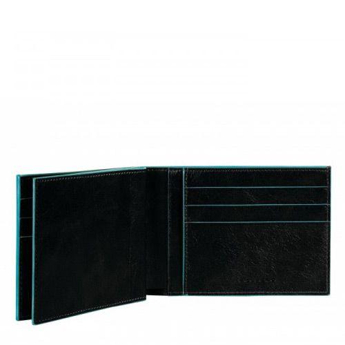 Мужское портмоне Piquadro с отделеием для чековой книжки Blue Square черное