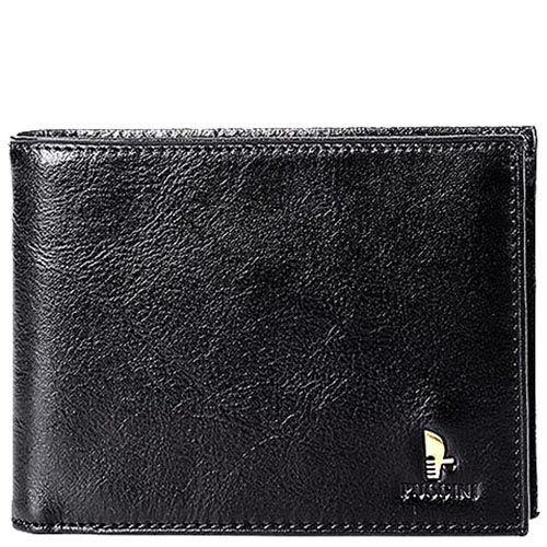 Черный вместительный кошелек Puccini Masterpiece с большим количеством карманов