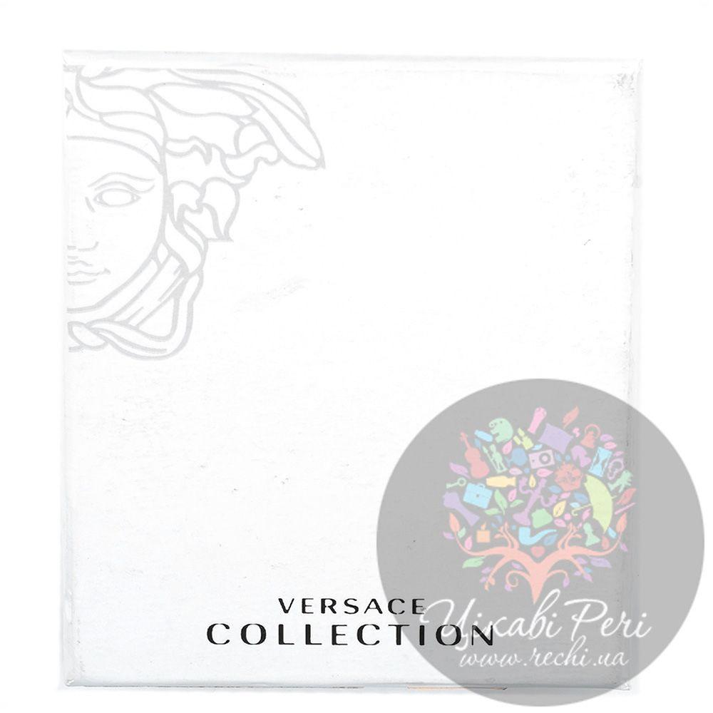 Портмоне Versace Collection из темно-коричневой кожи горизонтальное
