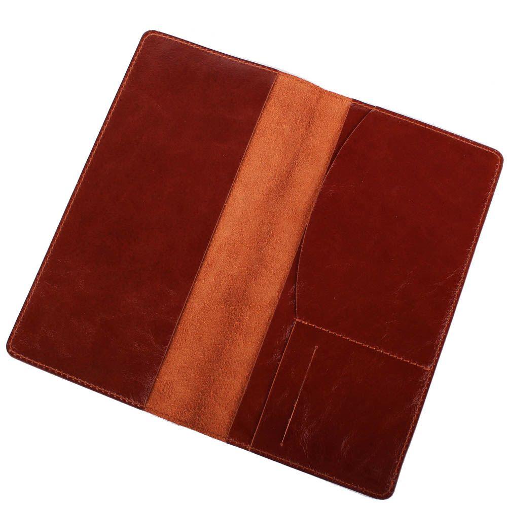 Травел-кейс Rechi.Ua коричневого цвета из глянцевой кожи