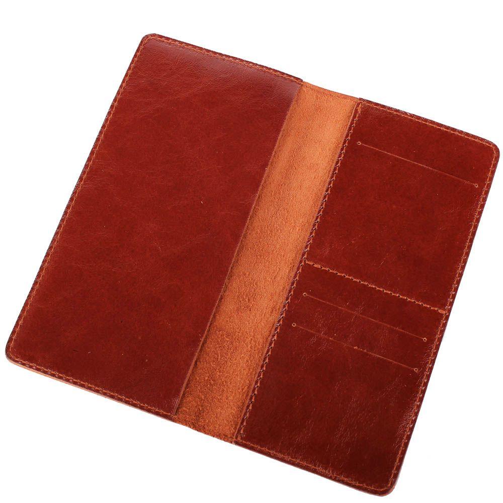 Холдер Rechi.Ua коричневого цвета для купюр и билетов
