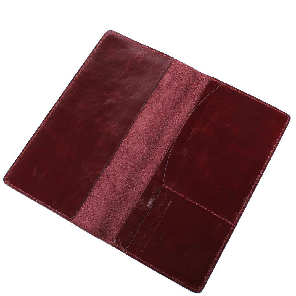 Травел-кейс Rechi.Ua темно-бордового цвета из глянцевой кожи