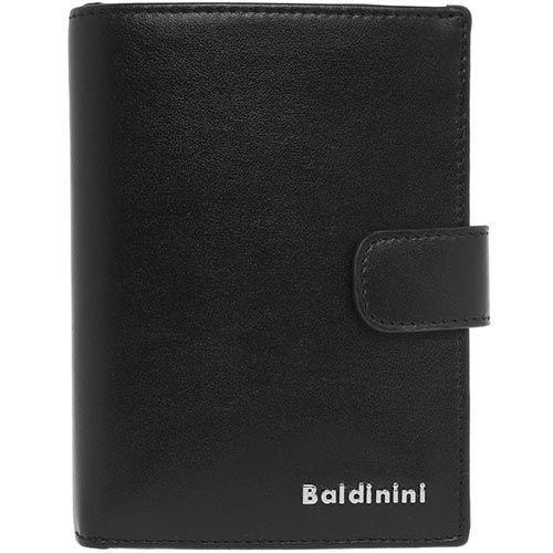 Кожаное портмоне Baldinini с тонким клапаном на кнопке