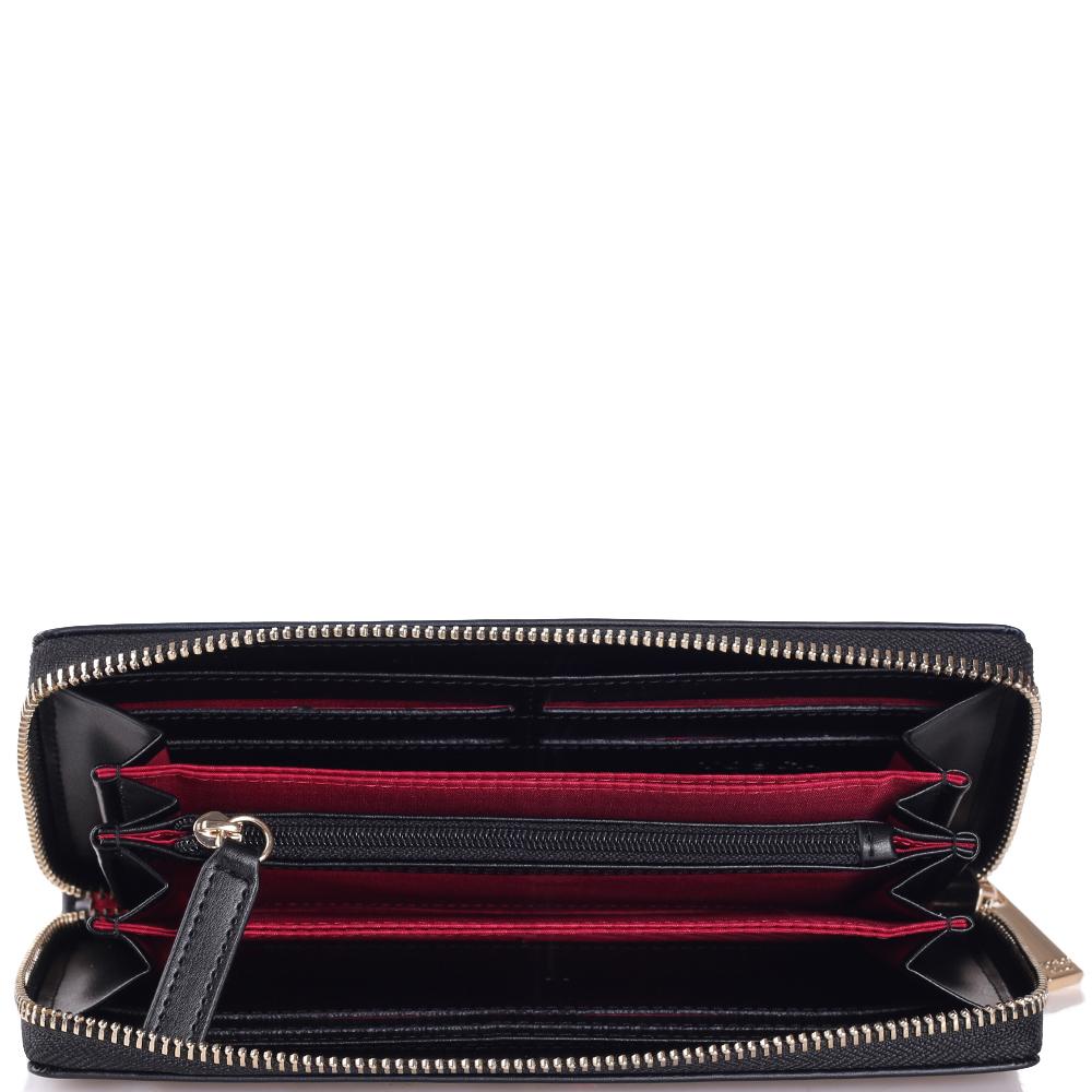 Черный кошелек Tosca Blu с цветочным принтом