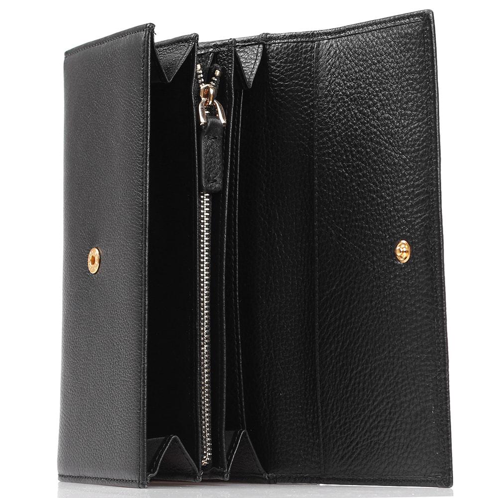 Черное портмоне Coccinelle с кардхолдером