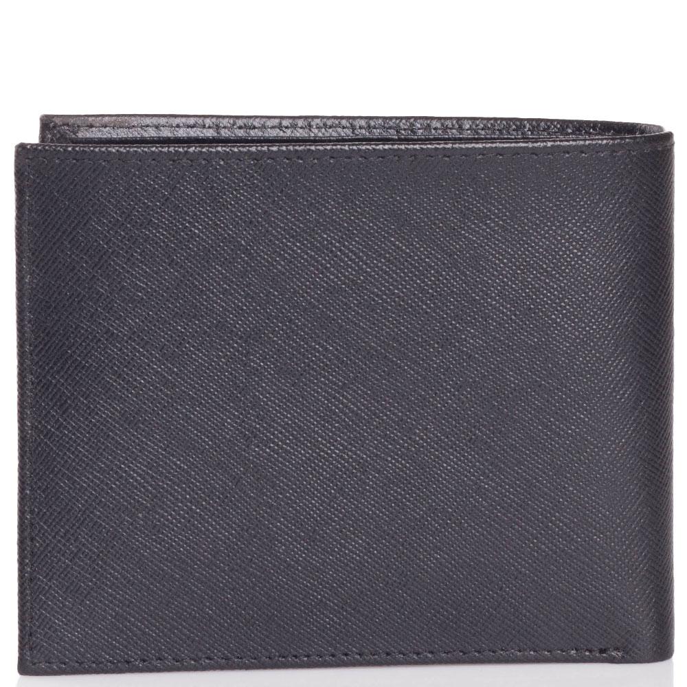 Портмоне Trussardi Jeans черного цвета из кожи с тиснением сафьяно