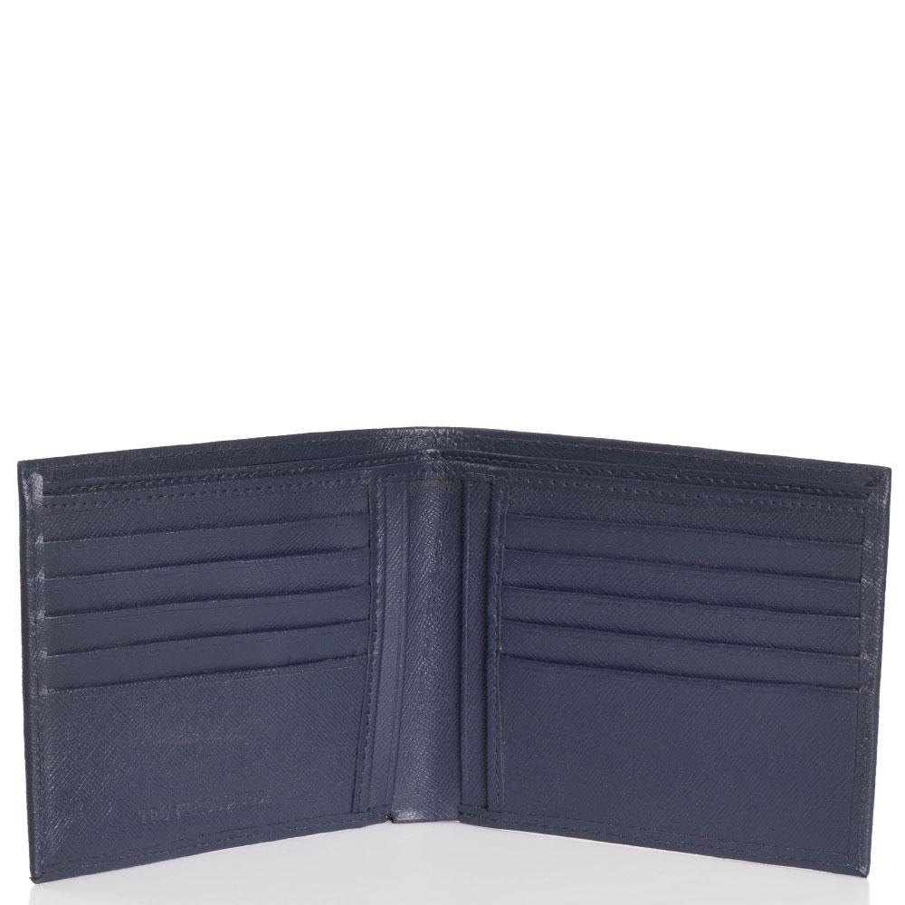 Синее портмоне Trussardi Jeans с тиснением сафьяно