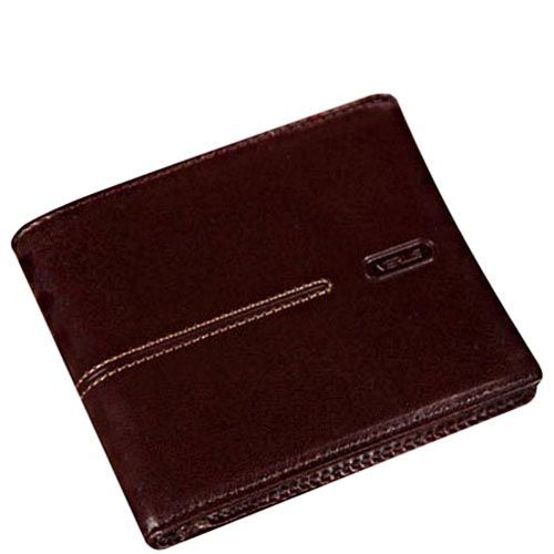 Классическое коричневое портмоне Verus London из гладкой кожи с тиснением