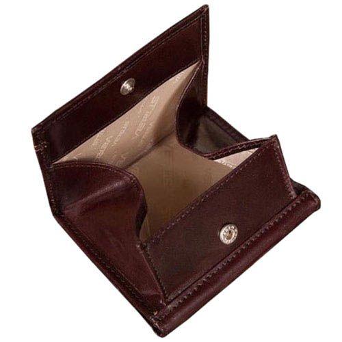 Небольшой коричневый кошелек Verus London из натуральной гладкой кожи
