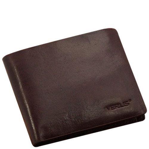 Классический кожаный кошелек Verus Mil коричневого цвета