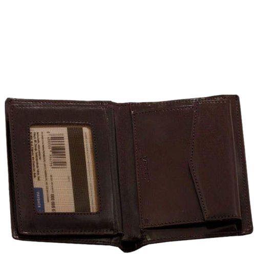 Небольшое горизонтальное портмоне Verus Mil из гладкой кожи с фирменным тиснением