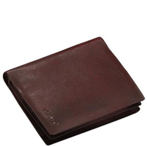Вертикальное коричневое портмоне Verus Mil из гладкой кожи без фурнитуры