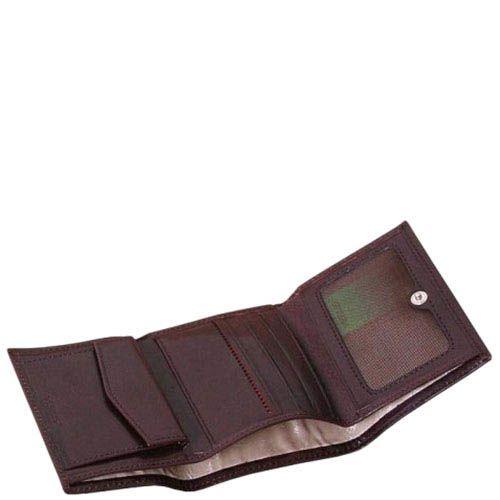 Маленький кошелек унисекс Verus Mon из натуральной коричневой кожи