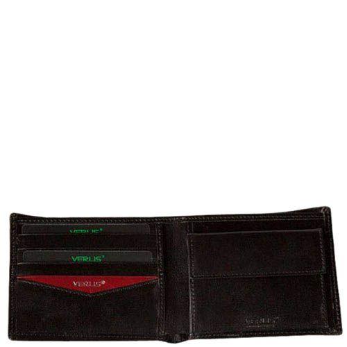 Аккуратное черное портмоне Verus Paris из натуральной кожи