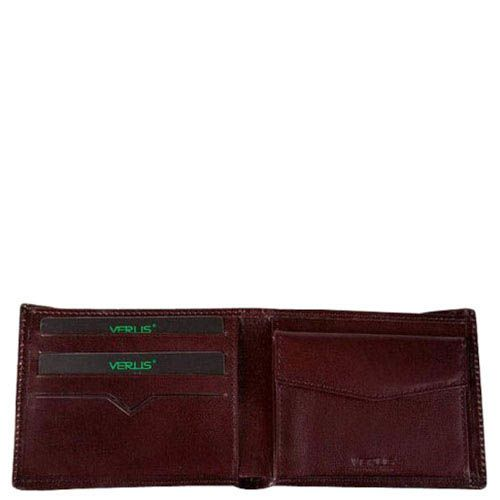 Аккуратный кожаный кошелек Verus Tokio коричневого цвета