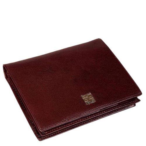 Тонкий вместительный кошелек Verus Tokio из гладкой коричневой кожи