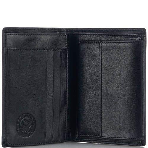 Портмоне Wenger 2-03BK мужское черного цвета компактное