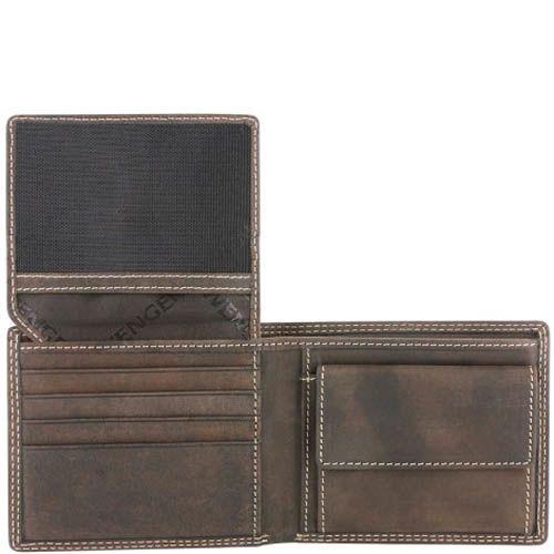 Портмоне Wenger W5-09 мужское темно-коричневого цвета