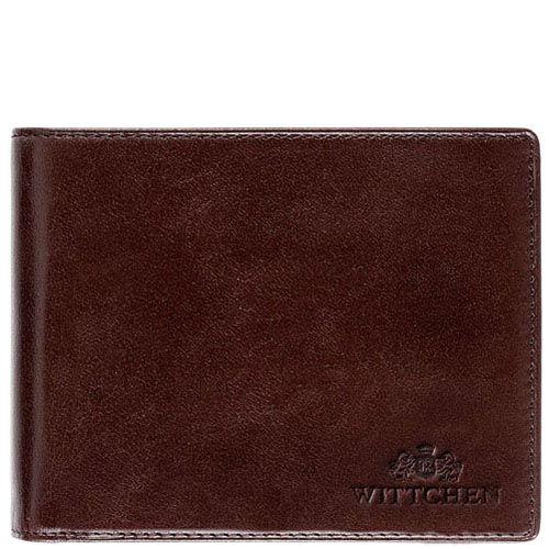Коричневое портмоне Wittchen с фирменным тиснением