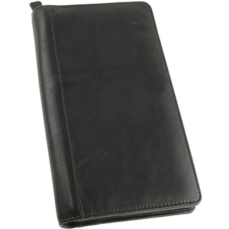 Трэвел-портмоне William Lloyd кожаное черное вертикальное