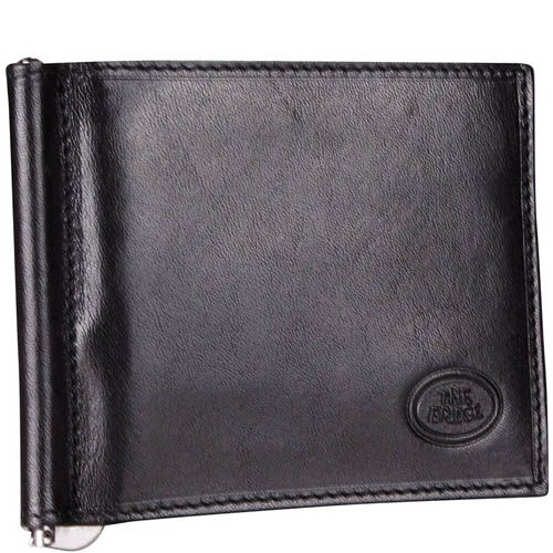 Портмоне с зажимом для банкнот The Bridge Story Uomo черного цвета, фото