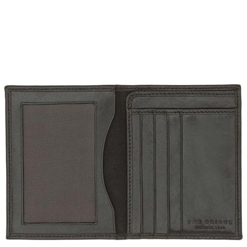 Бумажник черного цвета The Bridge Story Uomo вертикальное с отделением для документов, фото