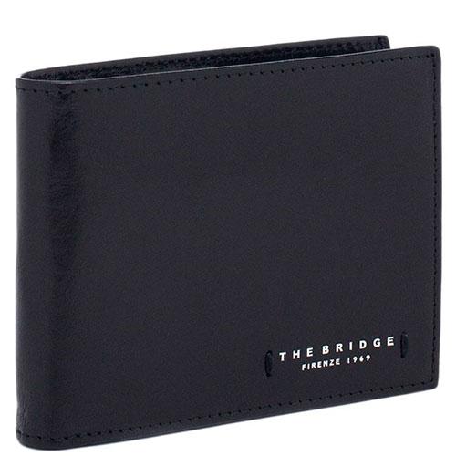 Портмоне мужское с карманом для монет на молнии The Bridge Passpartout Uomo   черного цвета, фото