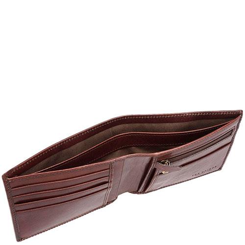 Портмоне мужское с карманом для монет на молнии The Bridge Story Uomo коричневого цвета, фото