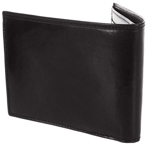 Портмоне мужское с карманом для монет на молнии The Bridge Story Uomo черного цвета, фото