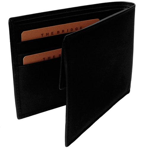 Портмоне мужское с карманом для монет The Bridge Fitzroy черного цвета, фото