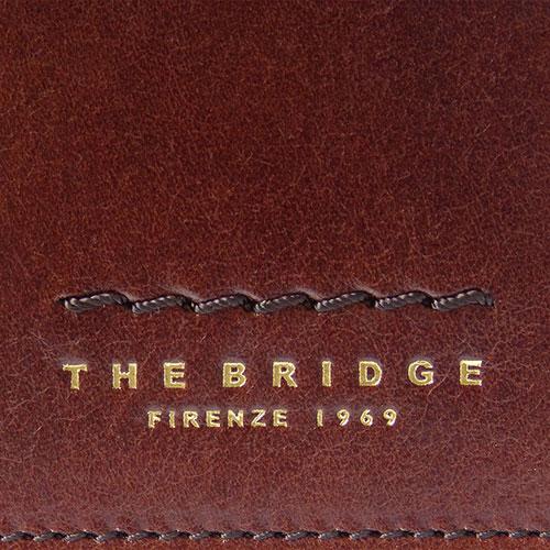 Портмоне кожаное The Bridge Fitzroy коричневого цвета, фото