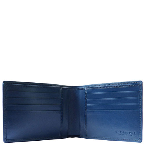 Портмоне кожаное The Bridge Hydro синего цвета, фото