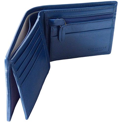 Кожаное мужское портмоне The Bridge Hydro синее с черным, фото