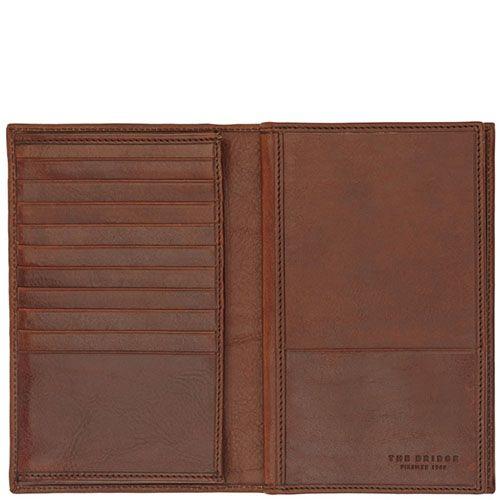Бумажник The Bridge Story Uomo из натуральной кожи коричневого цвета, фото